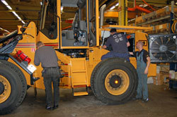 Work is being done to manufacture a wheel loader from Ljungby machine.