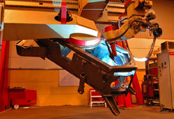 Svetsning av komponenter till en hjullastare från Ljungby maskin.