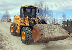 Hjullastarna testkörs alltid innan leverans.